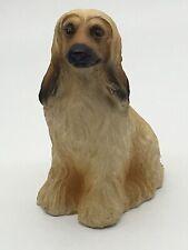 Tan/Brown/Black Afghan Hound Dog Figurine