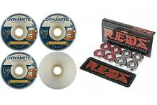 Dynamite Forever 54mm Conical Beer 101 Skateboard Wheels + Bones Reds Bearings