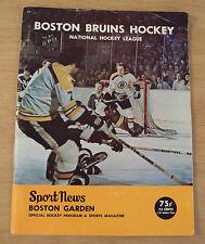 """VTG 1972 PROGRAM/Magazine~""""BOSTON BRUINS HOCKEY""""~Phil Esposito/Bobby Orr~"""