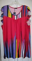 Women's Plus Size Lily By Firmiana Colorful Pullover Dress Size 2X NEW With Tags