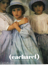 PUBLICITE ADVERTISING 055  1979  CACHAREL  vetements enfants par SARAH MOON