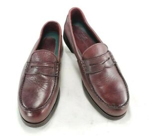 Red Wing Shoes Steel Toe Mens Penny Loafer Leather Safety Shoes Sz 11.5 D