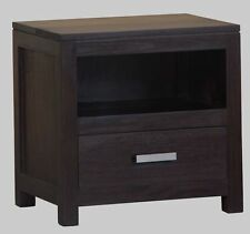 Minimalist Timber Bedside, Chocolate Brown, Bedside withe Drawer.
