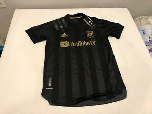 NWT $130.00 Adidas Mens Los Angeles Soccer Club Home Jersey Black Size MEDIUM