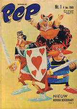 PEP 1969 nr. 01 - RIDDER ROODHART (COVER) / IJSHOCKEY / VARIOUS COMICS