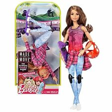 MATTEL BARBIE MADE TO MOVE SKATEBOARDER THE ULTIMATE POSABLE DOLL GIRLS TOY 3+