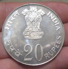 India - 1973B Huge Silver 20 Rupees Proof