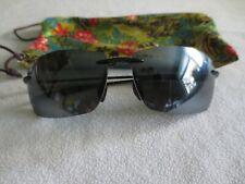 Maui Jim black frame polarized sunglasses. MJ 423-02 Lighthouse. With bag.