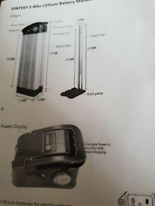 Vinteky 24V 10.4Ah 250W  Li-ion Battery+Charger For Electric Bicycle E-bike
