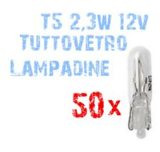 N° 50 Lampadine T5 tuttovetro ad Incandescenza 2,3W 12V Ricambi Quadro Auto 2A1A