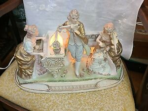 Vintage Music Box ~ Circa 1940-60's With Light~ Victorian People~ We Ship!
