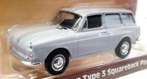 Greenlight 1/64 Scale 29910-C - 1965 Volkswagen Type 3 Squareback Panel - Grey
