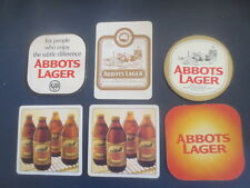 6 different ABBOTS LAGER no more  Australia  BEER COASTERS