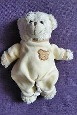 Doudou Maxita ours beige tête ours marron brodée