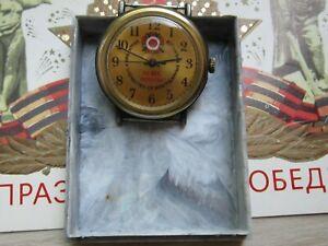 UdSSR Uhr-Watch Armbanduhr Raketa Sowjet 50 Jahre Sieg im Boxen Uhren