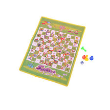 Non-woven Foldable Flying Chess Snake Chess Ladder Toy Family Board Game GL