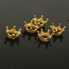 50Pcs Gold Plated Beads Crown Spacer Beads for DIY Jewelry Making Crafts
