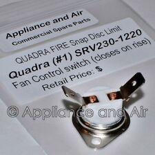 Heatilator Eco-Choice Pellet Stove Snap Disc Fan Limit Switch 230-1220 +instruct