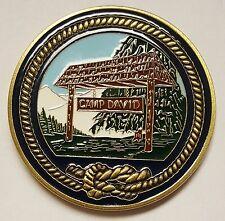"""POTUS Presidential Retreat Camp David Coin 1.75"""" Circa 1995"""