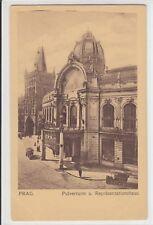 AK Praha, Prag, Pulverturm und Repräsentationshaus, 1915