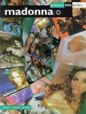 Madonna Greatest Hits So Far. Songbook Sheet Music Song Book