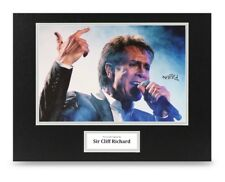 Sir Cliff Richard Signed 16x12 Photo Display Music Autograph Memorabilia + COA