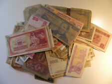 Lot of 100  Vintage Mixed Foreign World Currency Banknote Paper Money Collection