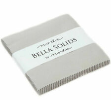 Moda Fabric Bella Solids Charm Pack Grey - Patchwork Quilting 5 Inch Squares