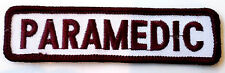 Paramedic Brown And White Rocker Bar Tab Uniform Patch