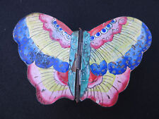 Vintage Antique Chinese Butterfly Cloisonne Enamel Trinket Jewelry Box