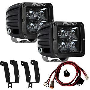 RIGID Fog Light Kit w/ Midnight Black PRO LED Lights for 99-16 Ford F250 F350