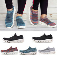 Women's Mesh Flat Casual Walking Running Sneakers Slip On Loafers Soft Shoes New