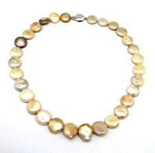 Collares y colgantes de joyería cadena de oro blanco de 14 quilates