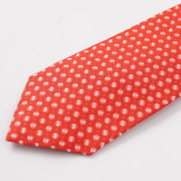 NWT $295 CESARE ATTOLINI Pink-Red-Brown Woven Jacquard Pattern Silk Tie