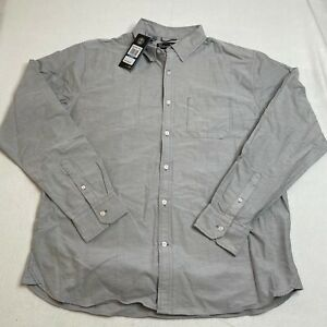 Under Armour Button Up Shirt Men's Fitted XL Gray Performance Oxford Long Sleeve