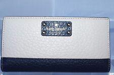 New Kate Spade Stacy Bay Street Wallet Clutch Bag Card Case Beige Leather