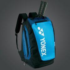 YONEX Pro BackPack Racket Bag BA92012MEX w/Shoe Pockets & Many Pockets, Blk/Blu