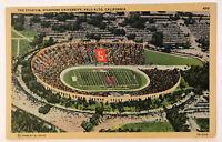 The Stadium, Stanford University, Palo Alto, California CA Postcard - 1940