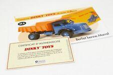 DINKY TOYS ATLAS FICHE & CERTIFICAT / BERLIET BENNE MARREL 34A