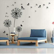 New Removable Art Vinyl Quote DIY Dandelion Wall Stickers Decal Mural Home Decor