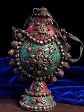 Chinese Antique Tibetan style hand-set gemstone snuff bottle