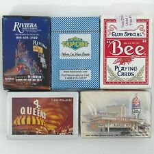 Lot of 5 Decks of Playing Cards From Las Vegas Riviera Tropicana 4 Queens  Bee