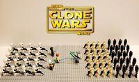 Star Wars The Clone Wars Battle Set 64pcs Lot - USA SELLER
