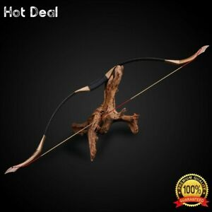 30-50lbs Recurve Bow Archery Handmade Traditional Longbow Wooden Hunting Outdoor
