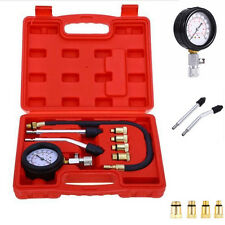 8 Pcs Pro Petrol Gas Engine Cylinder Compression Tester Gauge Kit Motor Auto New