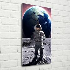 Wandbild Kunst-Druck auf Hart-Glas senkrecht 70x140 Astronaut