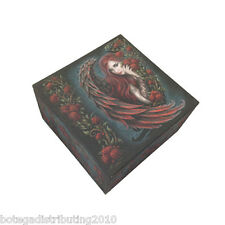 Daemon In Rosa Box With Mirror Trinket Box Anne Stokes Collection Red Rose Angel
