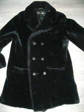 manteau hiver femme VINTAGE NOIR ASTRAKAN FOURRURE HEPWORTHS TAILLE 40