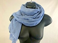 FACONNABLE Unisex Silk/Cashmere Baby Blue Scarf, RRP £120