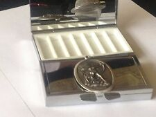 Diana Goddess code dr88  English Pewter On Mirrored 7 Day Pill box Compact
